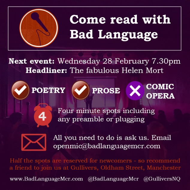 Come read with Bad Language