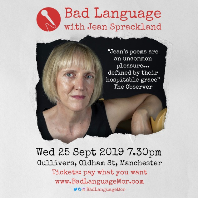 Bad Language with Jean Sprackland, Gullivers Manchester, 7.30pm, pay what you want